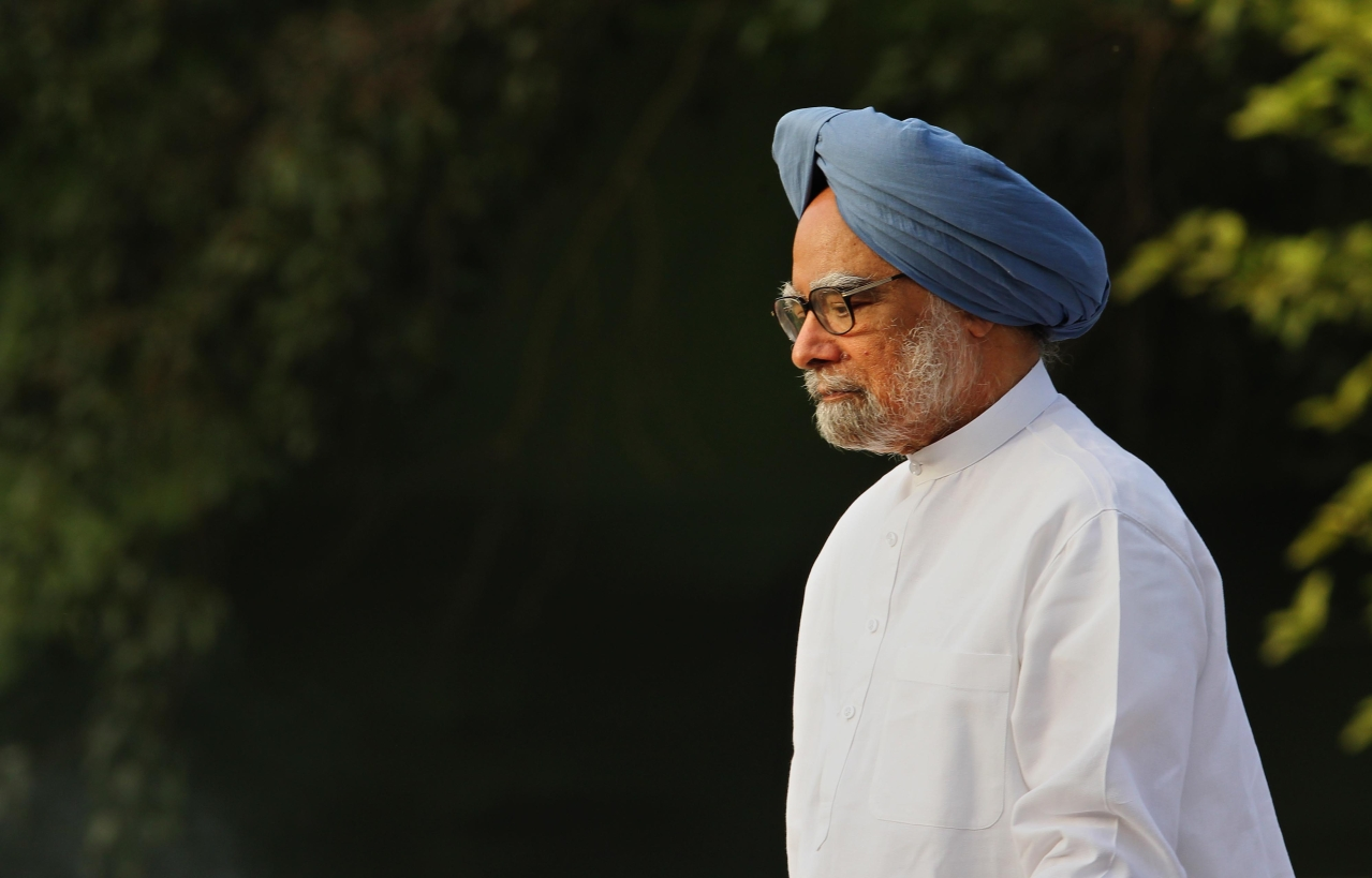 Former prime minister Manmohan Singh. (Ajay Aggarwal/Hindustan Times via GettyImages)