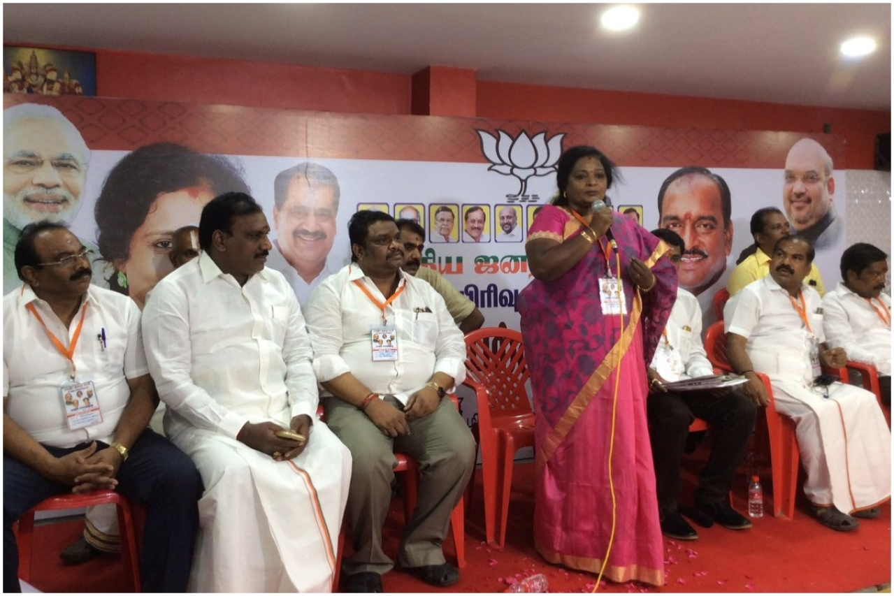 Tamil Nadu BJP unit chief Tamilisai Soundrajan (Twitter)