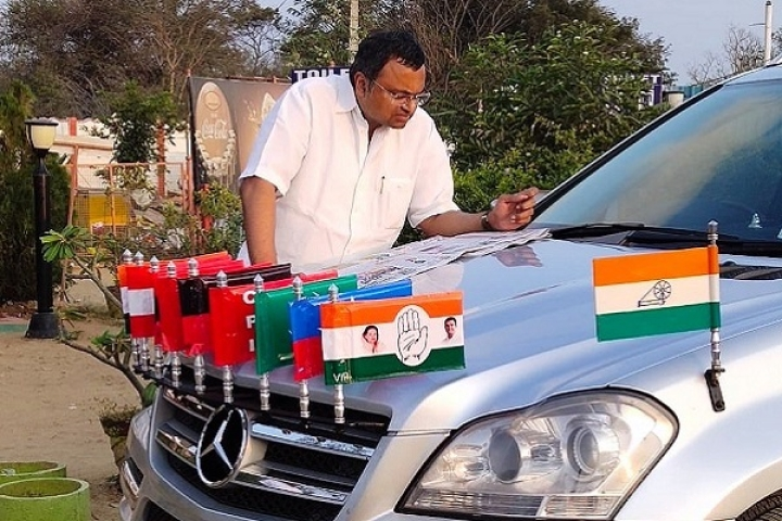 Communist Flag On Mercedes Benz: Karti Chidambaram Starts Lok Sabha Campaign Amidst Furore In Congress