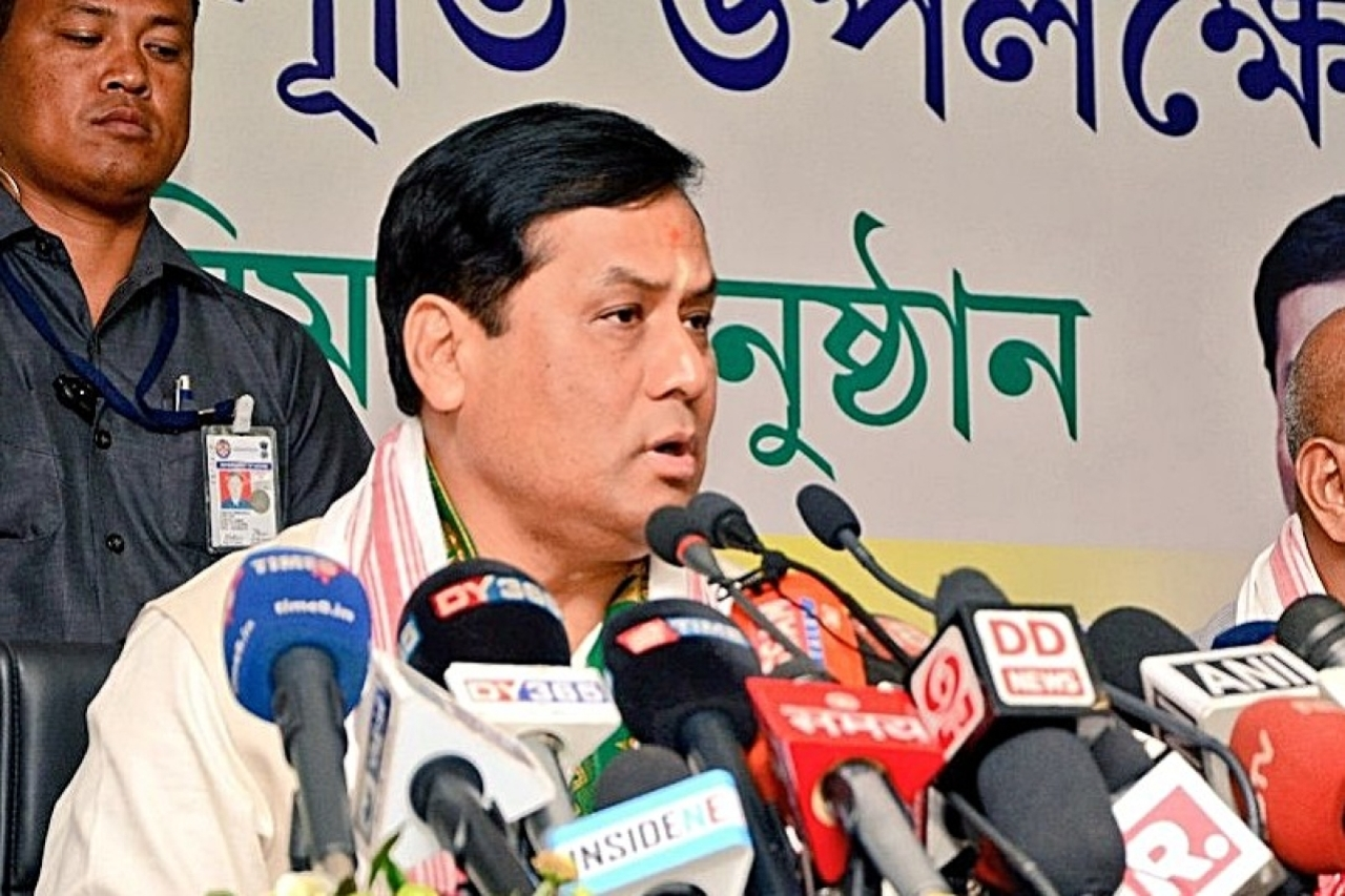 Assam Chief Minister Sarbananda Sonowal. (pic via Twitter)