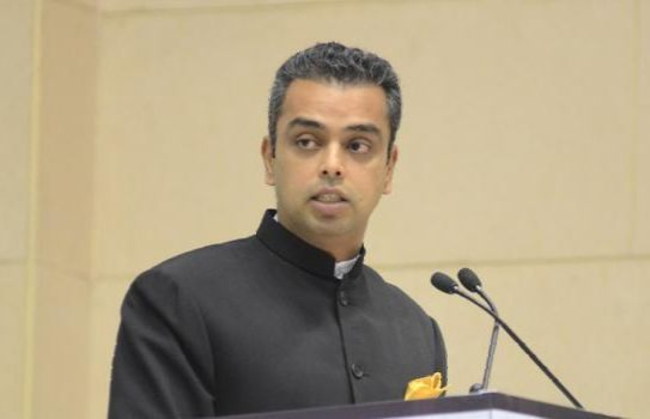 Congress candidate from the Mumbai South Lok Sabha constituency Milind Deora. (Twitter)