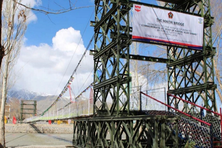 Indian Army Sets The Standard: Builds Longest Suspension Bridge Over River Indus In Leh-Ladakh In Just 40 Days