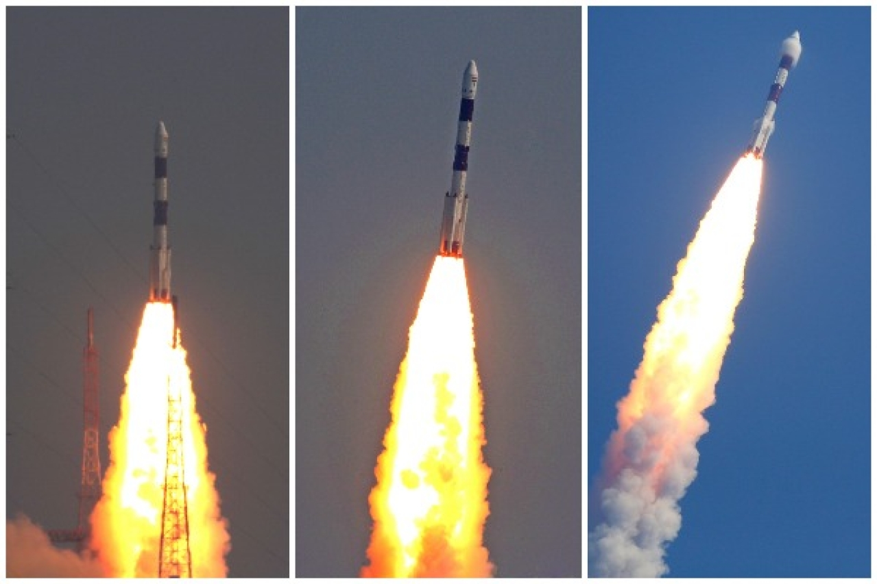 ISRO launches PSLV-C-45 Mission from Sriharikota. (ISRO/Twitter)
