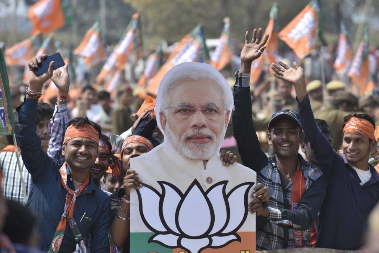 BJP rally (Arun Sharma/Hindustan Times via Getty Images)