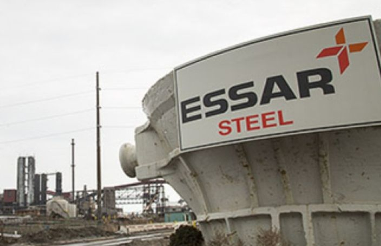 The Essar Steel plant.