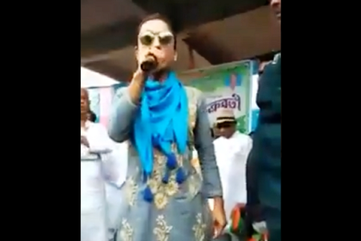 Watch: Trinamool Candidate Mimi Chakraborty Angrily Screams At Her Supporters During Election Rally