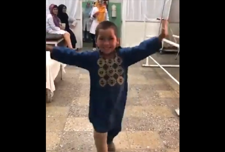 Watch: Afghan Child, A Landmine Victim, Dances In Delight At Hospital After Getting Prosthetic Leg