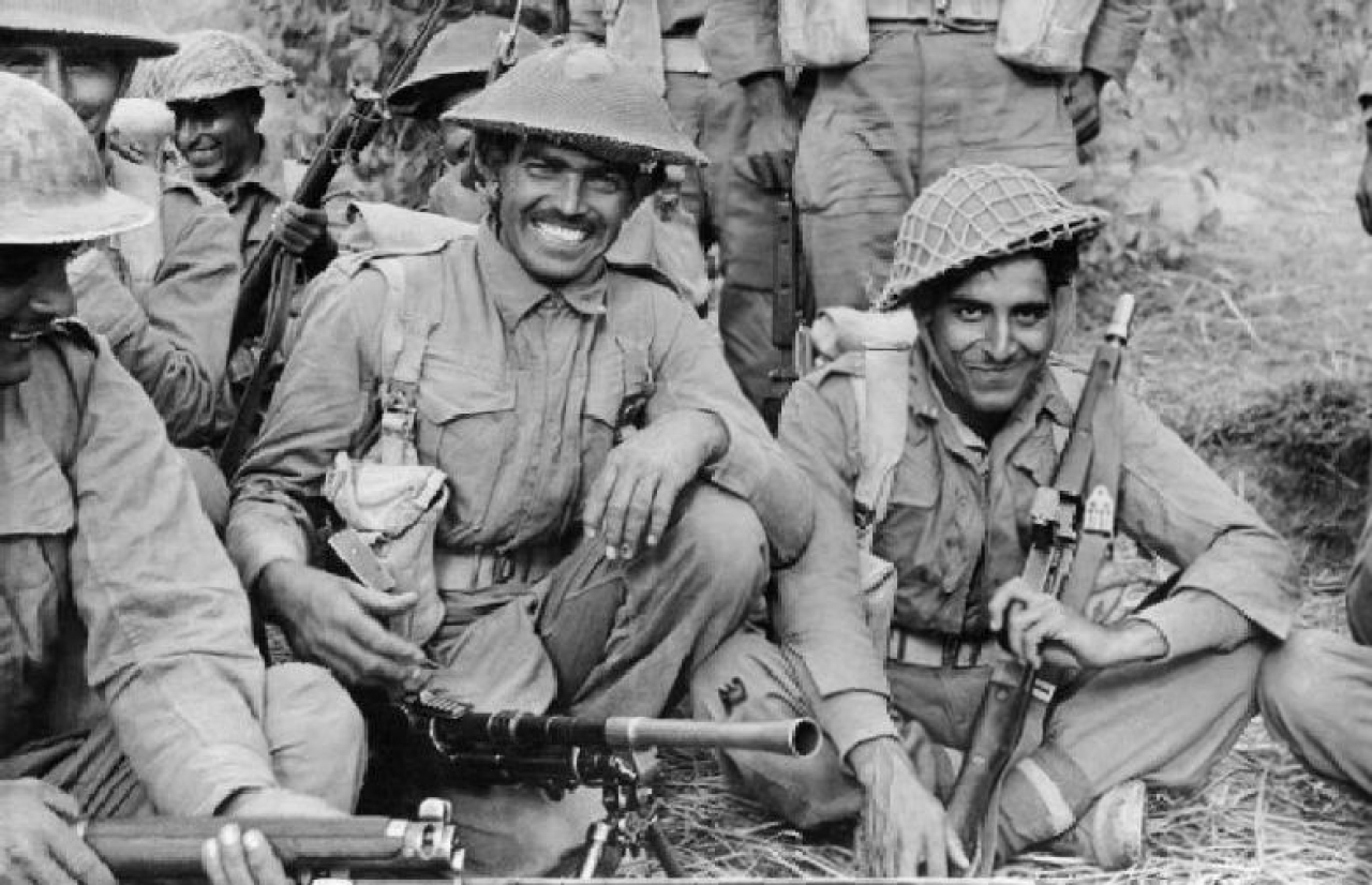 Indian soldiers during the Second World War.