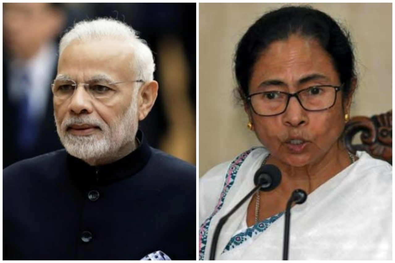 Prime Minister Narendra Modi with Bengal Chief Minister Mamata Banerjee.