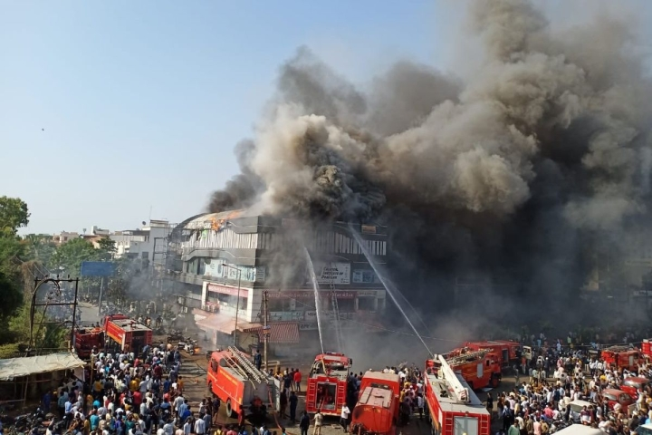 Fire Breaks Out At Coaching Centre In Surat; At Least 19 Students Killed, Many Injured