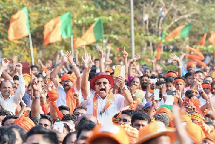 Poorna Bahumat Aagaya: Saffron Wave Along Karnataka's Coast Yet Again