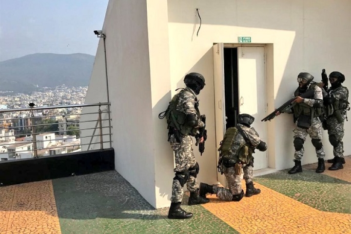 Watch: Indian Navy's Elite Marine Commandos Unit MARCOS Conduct Hostage Rescue Mock Drill