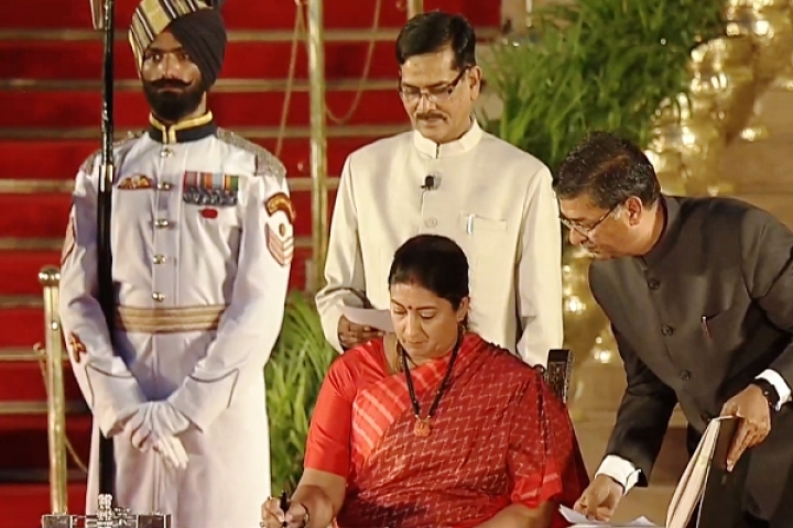 Smriti Irani Who Brought Down A Dynastic Bastion Takes Oath As Minister In Modi Government
