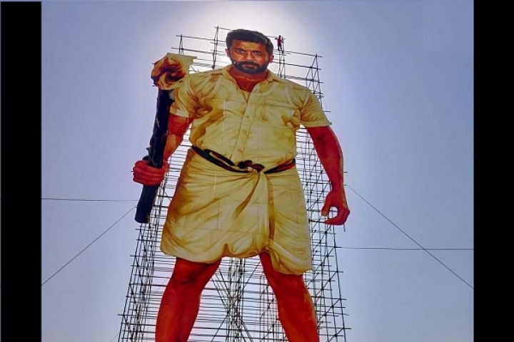 Authorities In Tamil Nadu's Tiruttani Take Down Giant 215 Feet Cutout Of Tamil Actor Suriya Ahead Of NGK Release