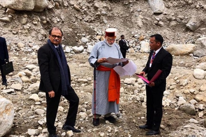 Watch: PM Modi Takes Stock Of Redevelopment Projects In  Kedarnath
