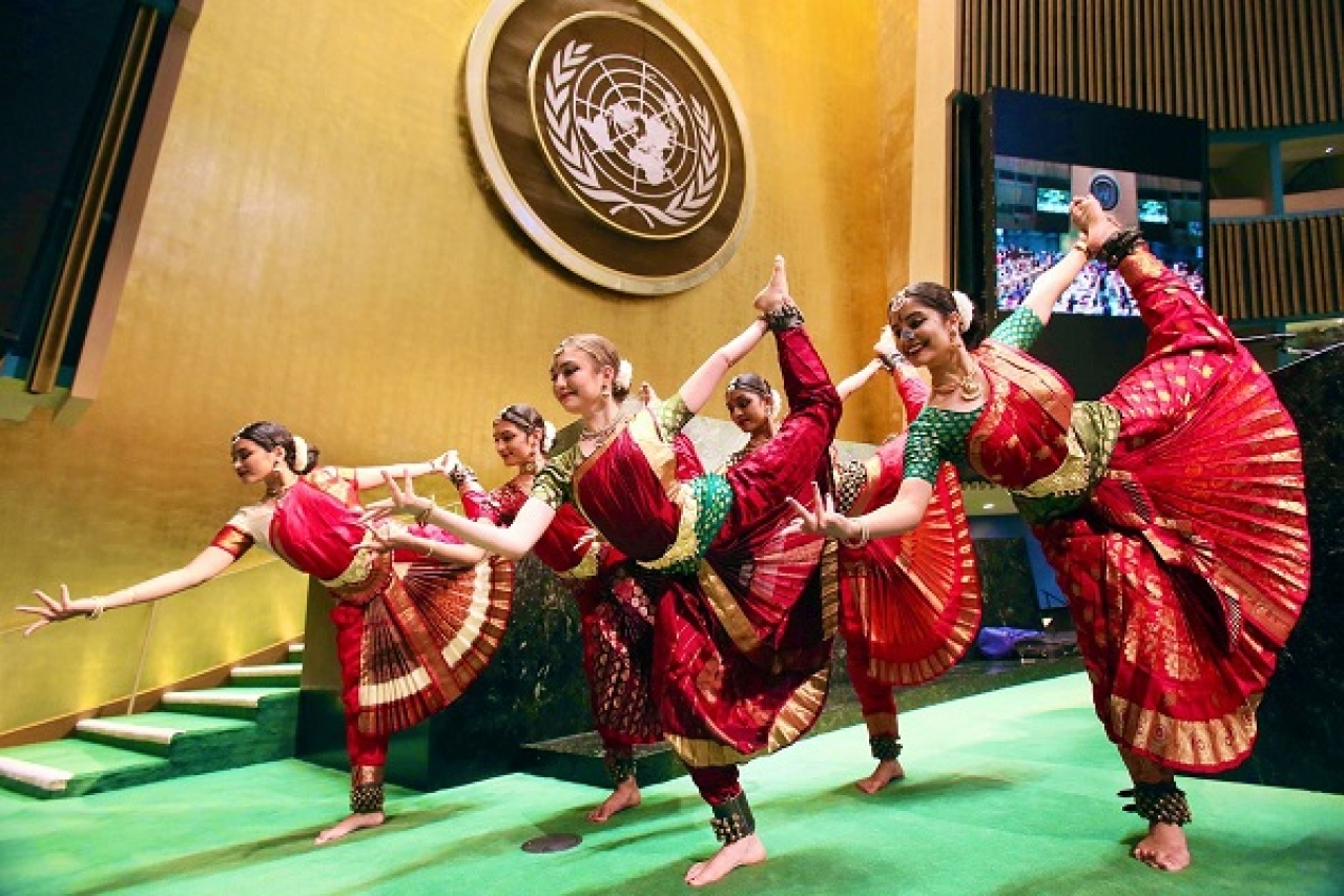 Cultural program inside the UN General Assembly hall