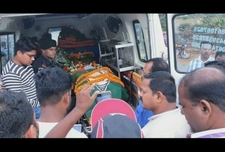 Odisha: Martyred Army Jawan's Coffin Draped In BJD Party Flag Instead Of Tricolour, Veterans Demand Apology