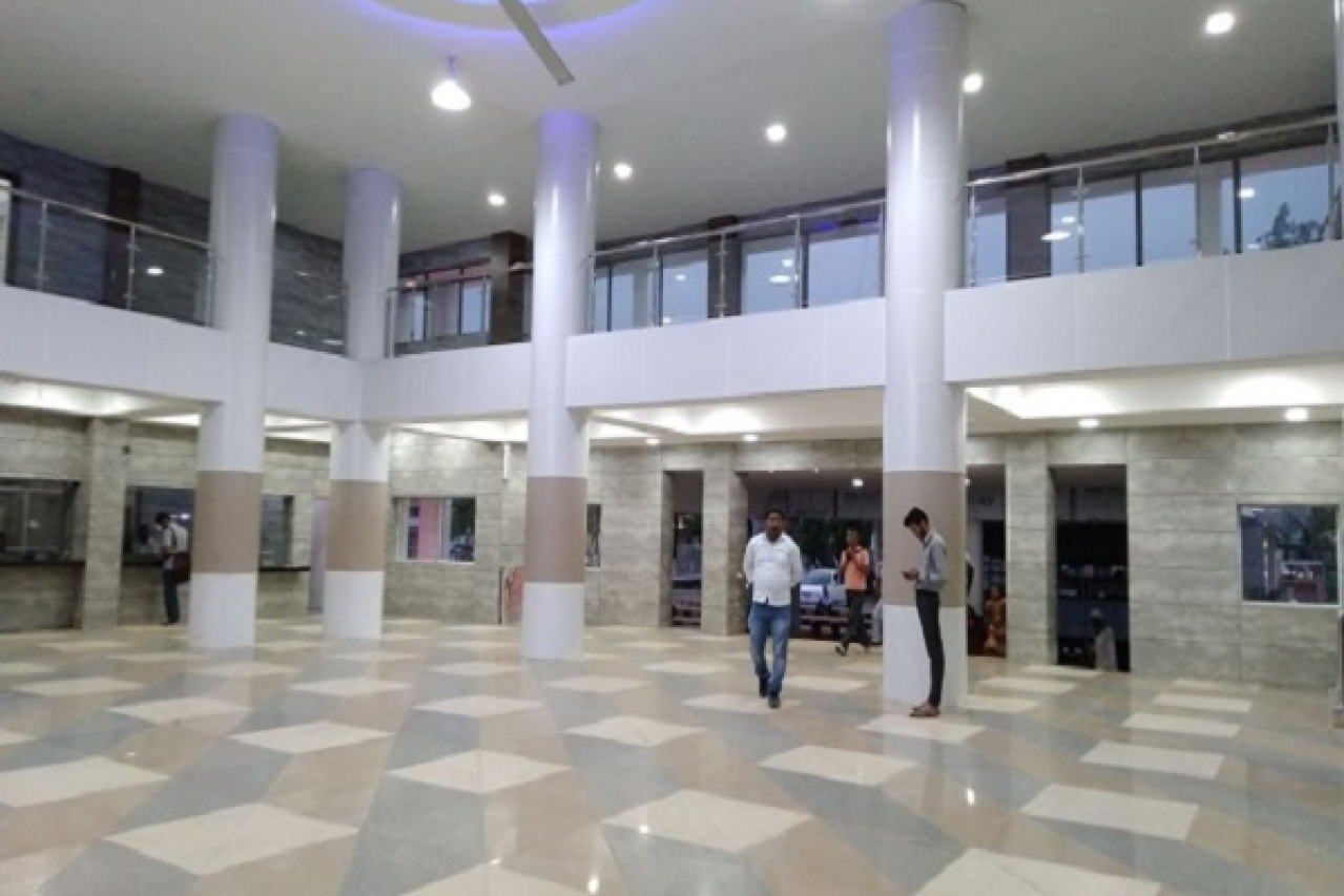 The concourse area has been replaced the old Kota flooring with designed granite flooring. (Image via @PiyushGoyal/Twitter)