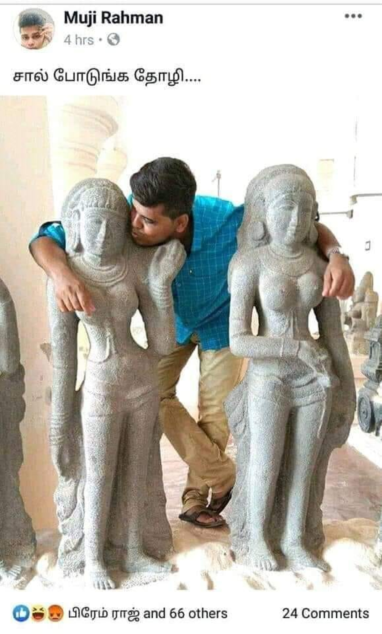 Image result for youth arrested for obscene posts with statues
