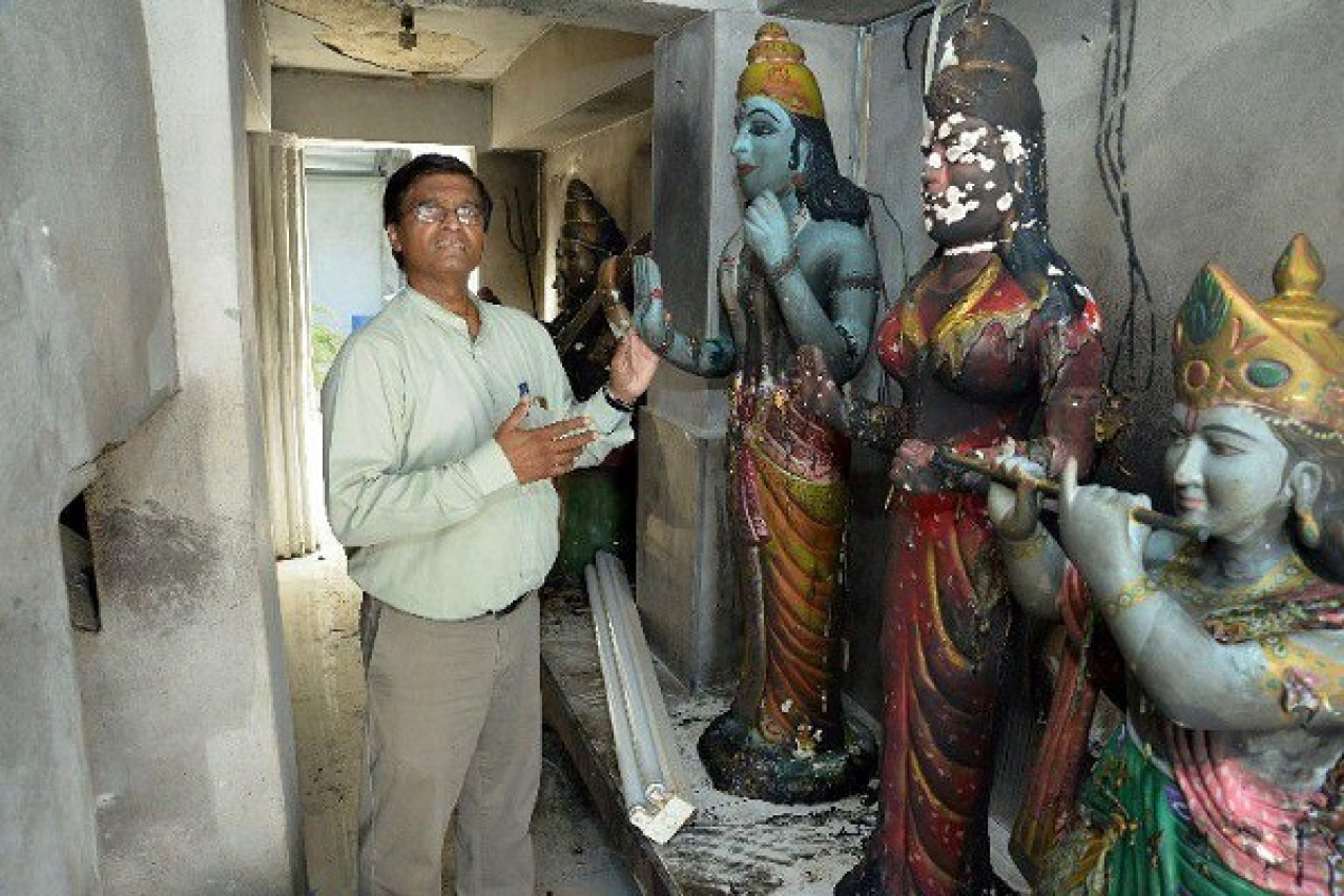 Intruders Set Fire To Idols In Attempt To Burn Down Hindu Temple In Trinidad And Tobago