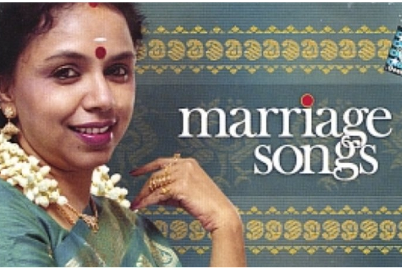 Cover of Sudha Raghunathan's Marriage Songs Album.