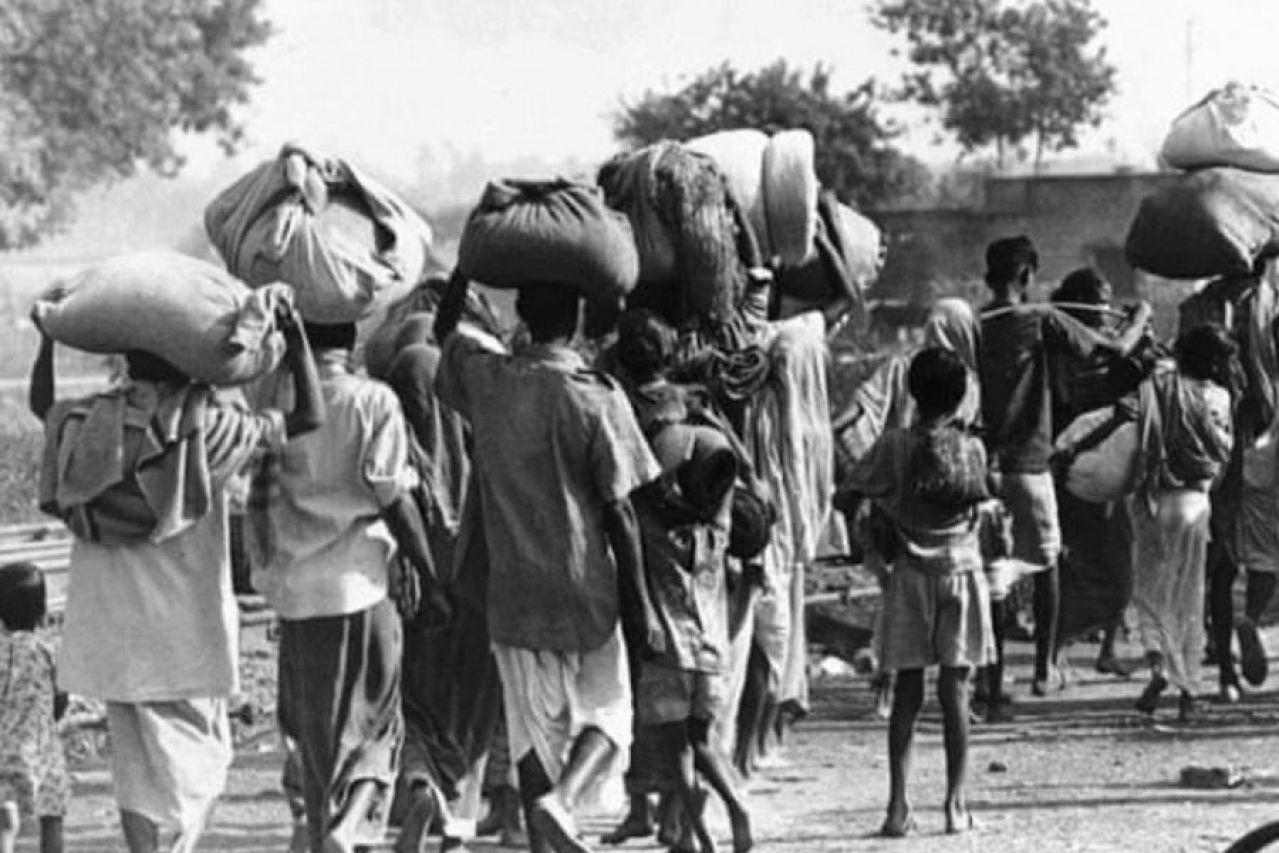 The migration of the refugees to Marichjhapi.