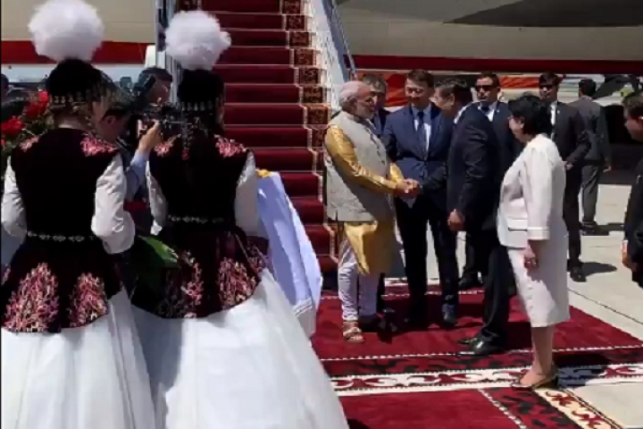 PM Modi Arrives In Bishkek For SCO Summit; To Hold Independent Talks With Xi And Putin