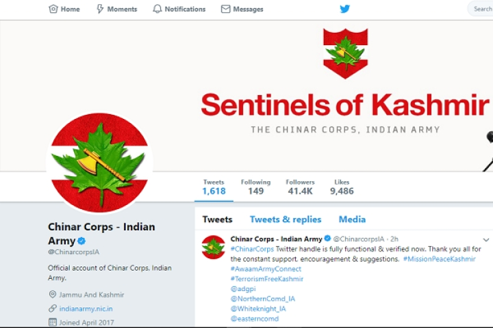 Official Handle Of Indian Army's 15 Corps Suspended By Twitter India Gets Restored After Massive Outrage