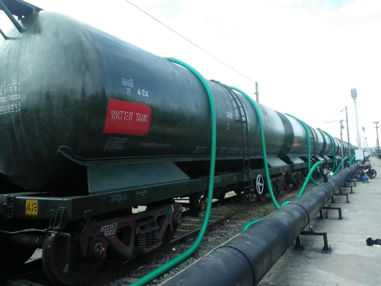The First Set of 50 Wagons Carrying 2.5 Million Litre Of Drinking Water From Jolarpettai Set To Arrive Chennai Today
