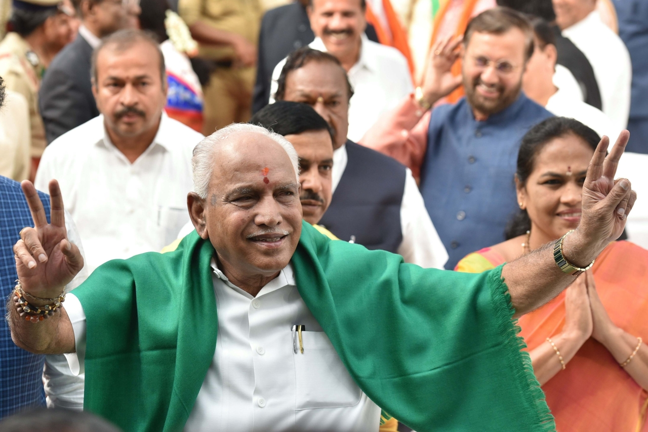 Karnataka: BJP Stakes Claim To Form Government; Yeddyurappa To Take Oath At 6 PM Today