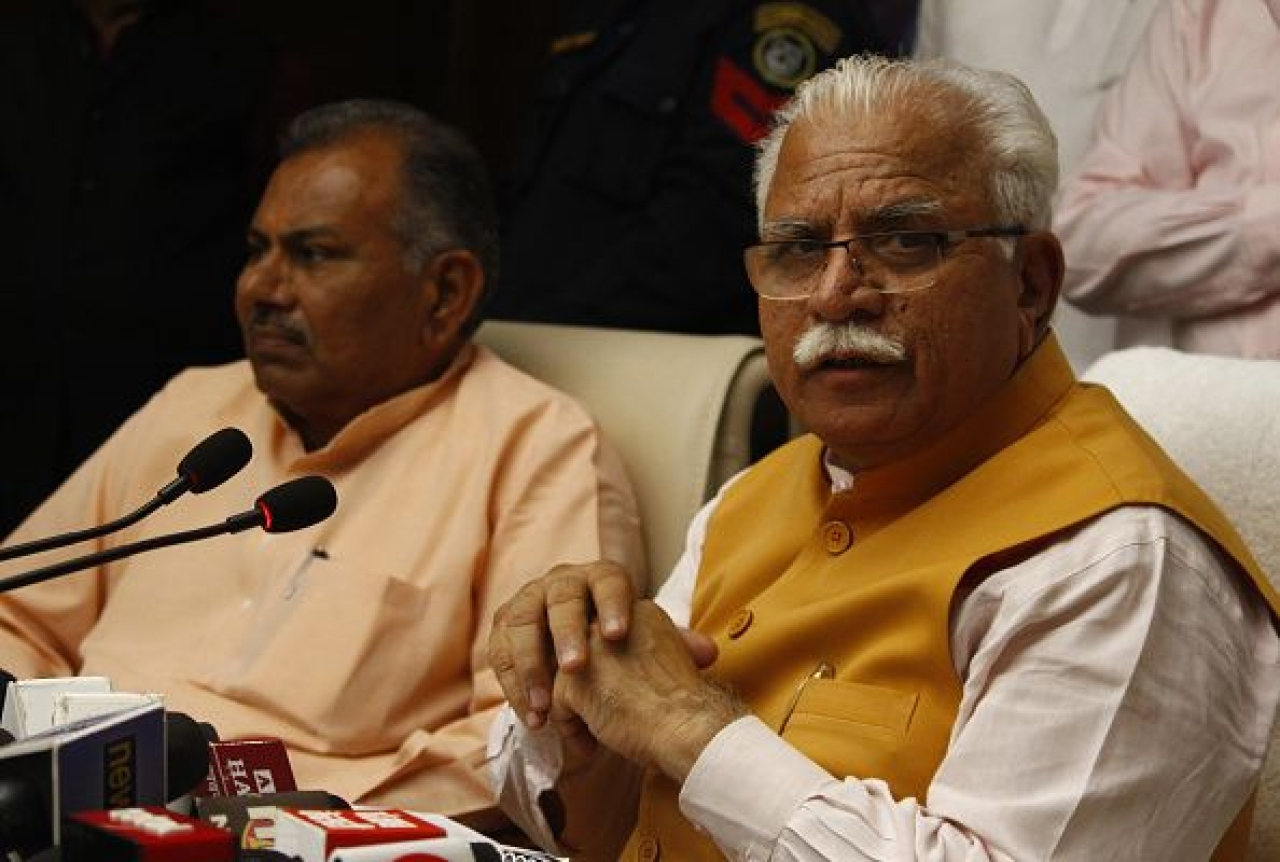 BJP leader and Haryana Chief Minister Manohar Lal Khattar  (Yogendra Kumar/Hindustan Times via Getty Images)