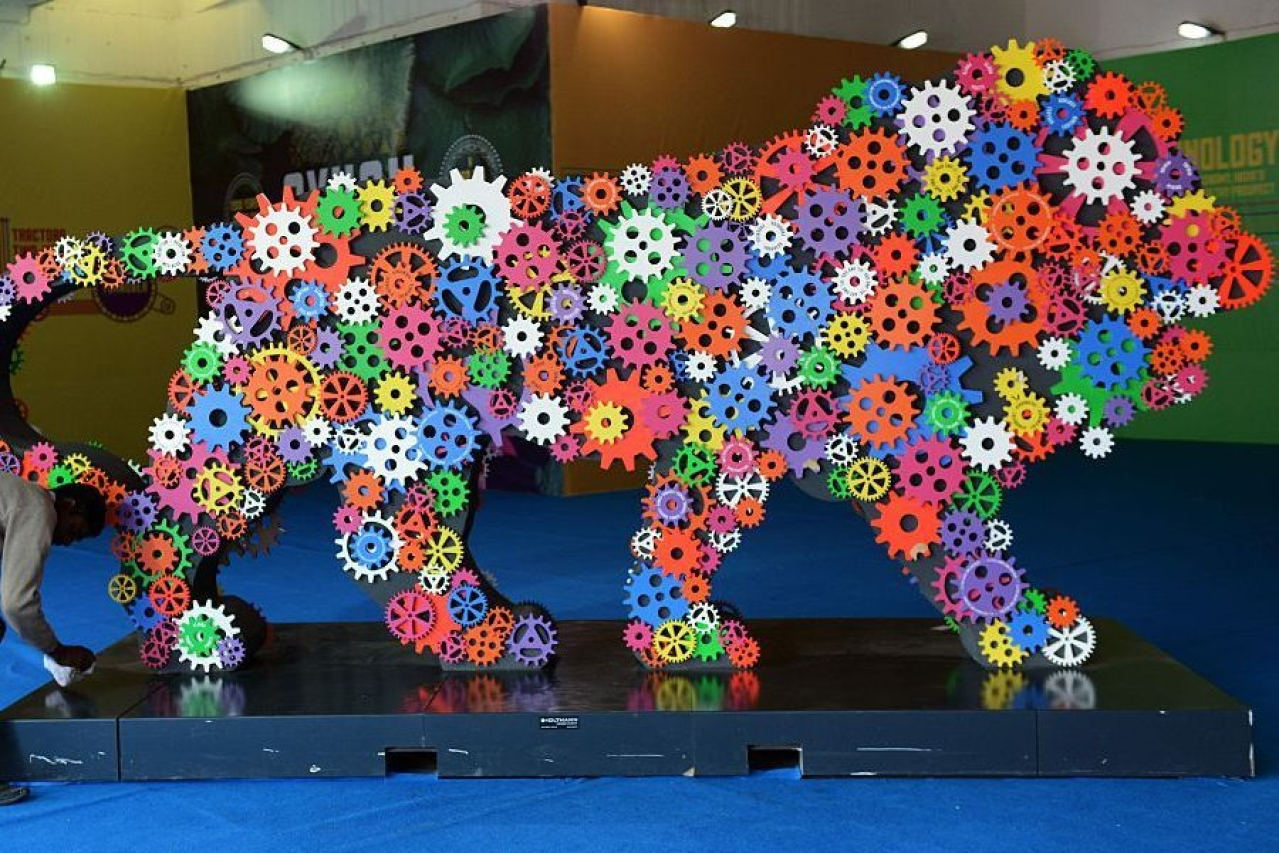 Make in India symbol (MONEY SHARMA/AFP/Getty Images)
