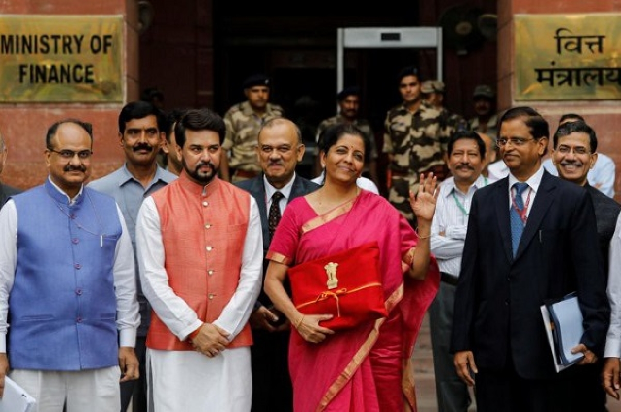 Nirmala Sitharaman, India's first full-time woman finance minister.