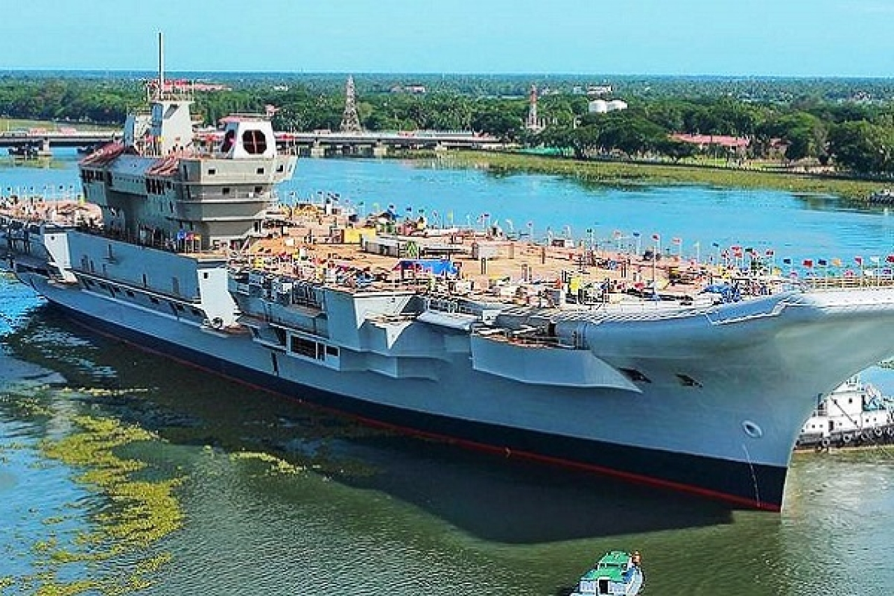 India's Indigenous Aircraft Carrier INS Vikrant Enters Final Phase Of Construction With Successful Engine Testing