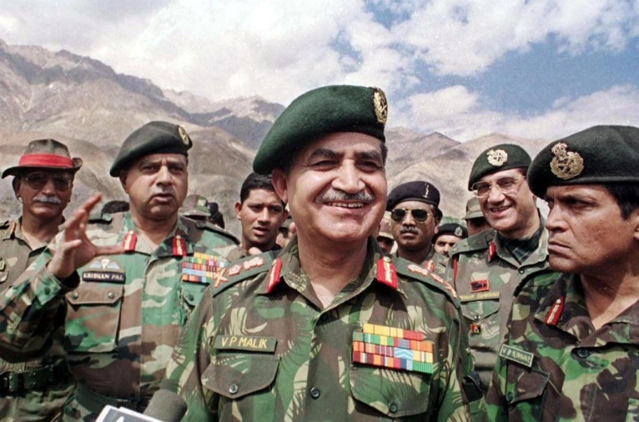 Ved Prakash Malik, Indian Army's chief during the Kargil War.