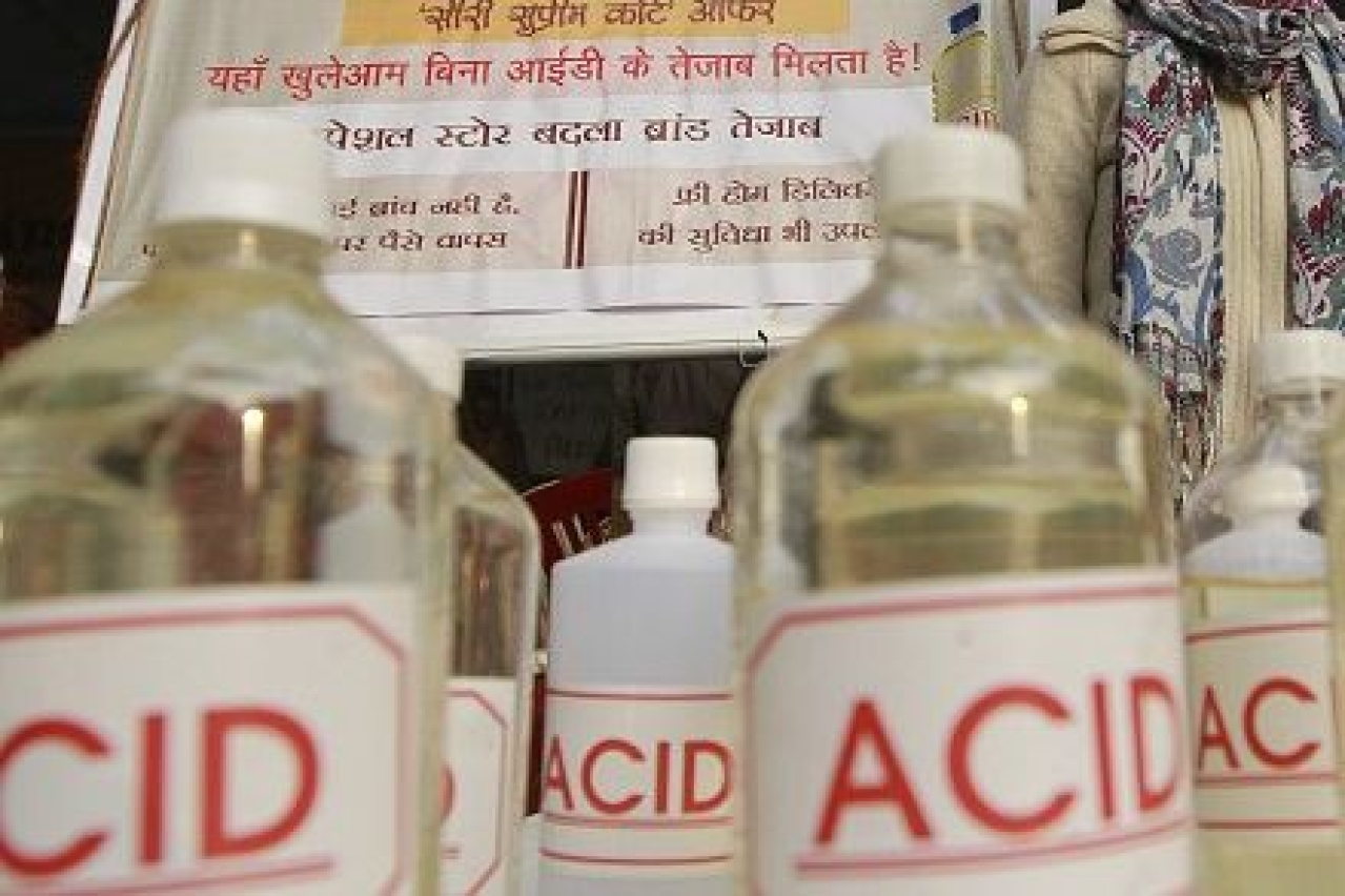 There is a restriction on sale of acid through retail channels by treating it as poison.