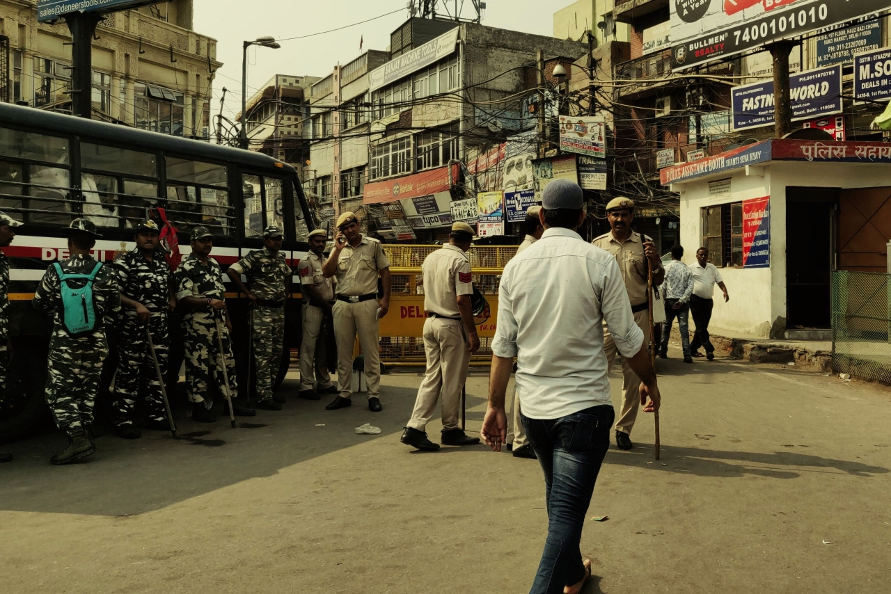 Heavy police deployment near Lal Kuan on July 2 (Swarajya)