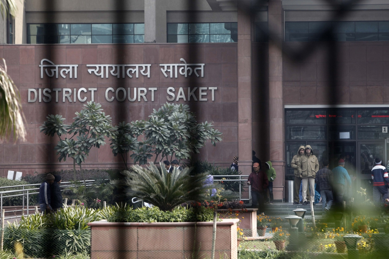 Saket District Court in New Delhi, India. (M Zhazo/Hindustan Times via Getty Images)