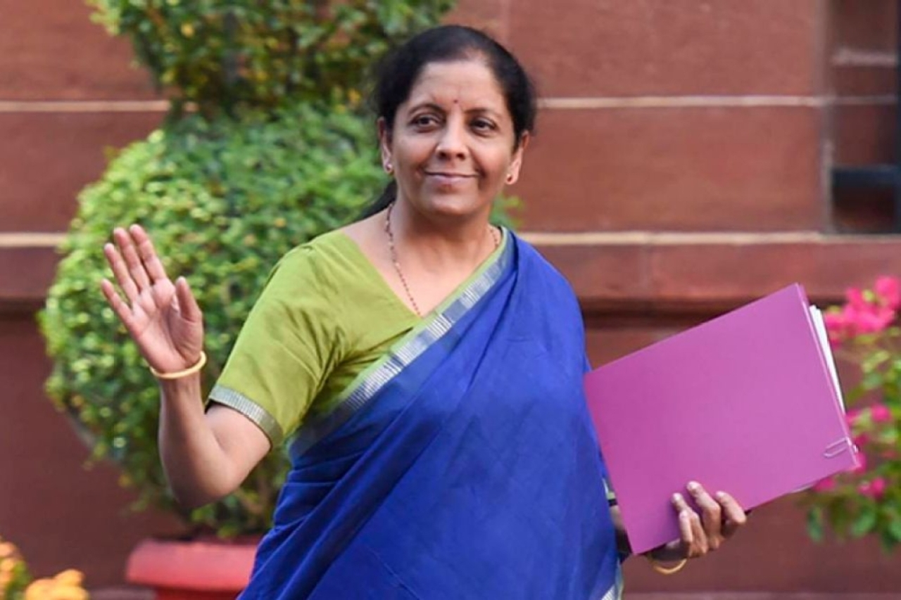 Union Finance Minister Nirmala Sitharama at the Press Conference on Union Budget.