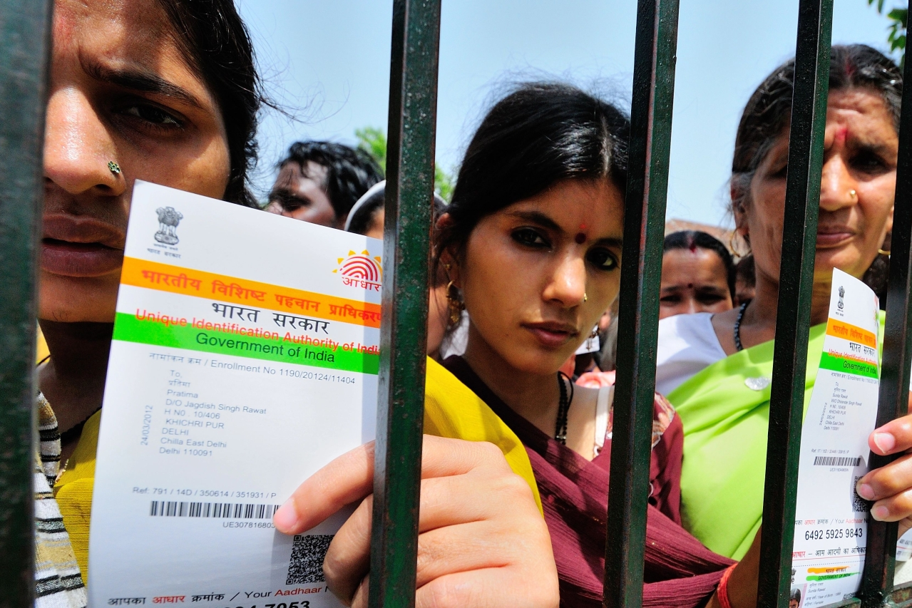 A camp for Aadhaar Card in New Delhi. (Priyanka Parashar/Mint via Getty Images)