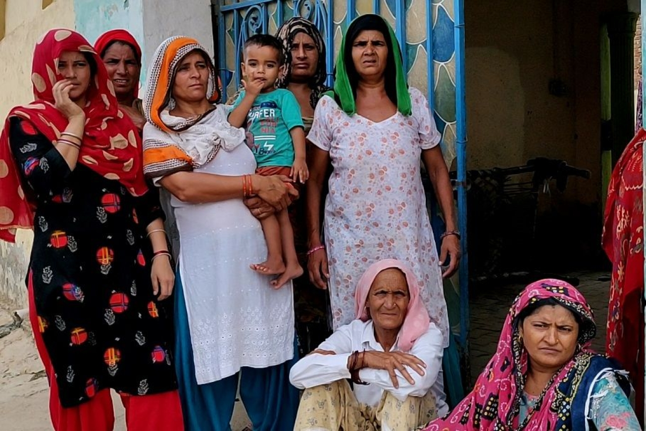 A group of women from Sondhad village in Haryana's Palwal district/Swati Goel Sharma