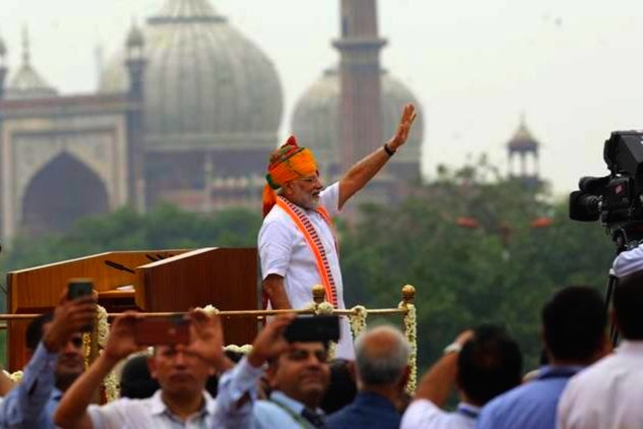 Prime Minister Modi at the Red Fort on Independence Day