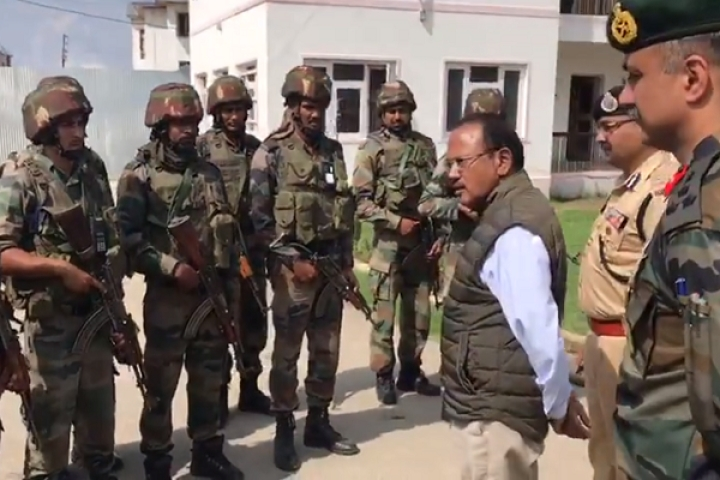 Watch: On The Ground In Kashmir Valley, NSA Ajit Doval Shares Meal With Locals And Briefs Indian Army Troops