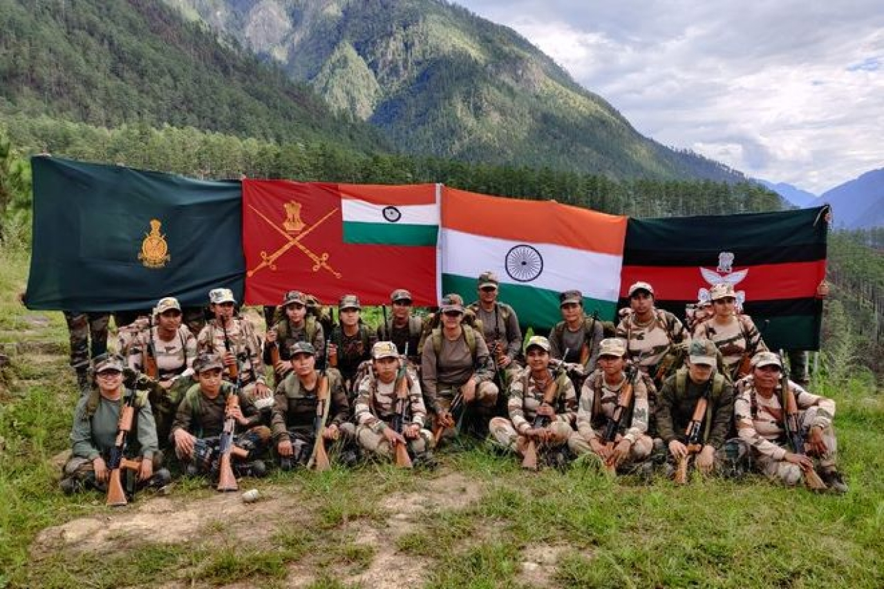 Woman Indian Army Officer Led Women Soldiers Complete Patrol Along LAC In Arunachal Pradesh