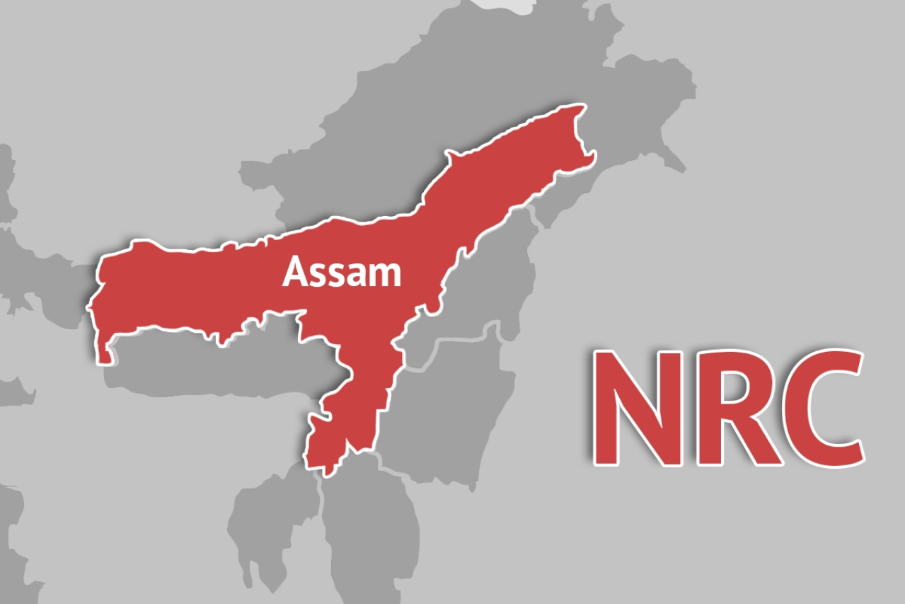 Map of the Indian state of Assam.