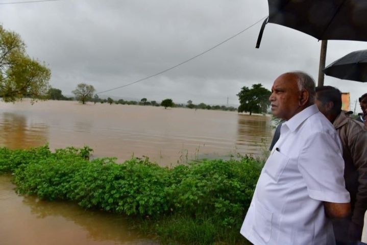 Karnataka Floods: CM Yediyurappa Seeks Rs 3,000 Crore Immediate Central Aid, Says Losses Could Hit Rs 30,000 Crore
