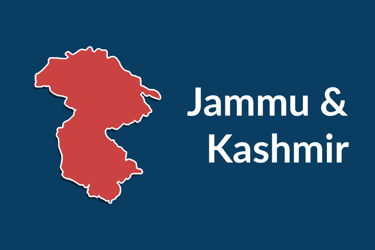The map of the Union territory of Jammu and Kashmir.