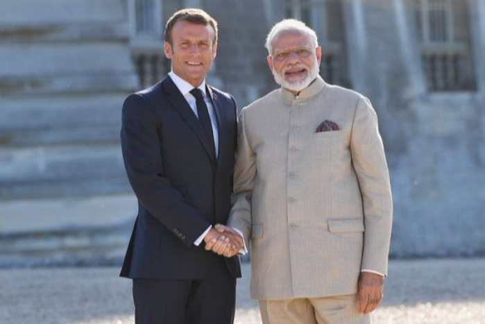 'No Third Party Should Interfere': French President Macron Terms Kashmir Issue Bilateral During PM Modi's Visit