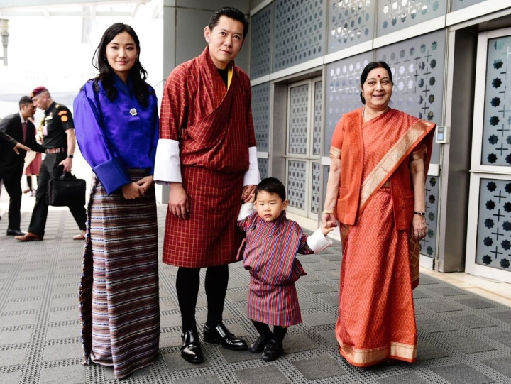 A Thousand Lamps For Sushma Swaraj: Bhutanese King Jigme Khesar Namgyel Wangchuk Offers Special Prayers For Late Leader