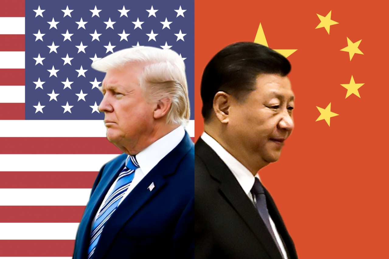 US President Donald Trump (left) and  Xi Xinping (right), China's Emperor for Life.